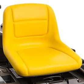 Aufsitzrasenmäher John Deere Z335E Komfortabler Sitz