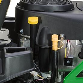 Aufsitzrasenmäher John Deere Z335E Schlauch zum Einfüllen/Nachfüllen von Motoröl und Ablassschlauch