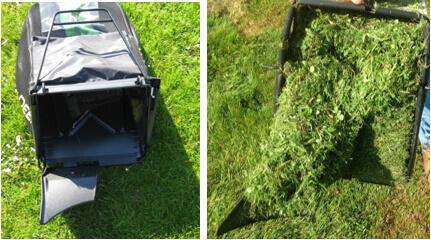 Rasenmäher John Deere R43VE Grasaufnahmesystem
