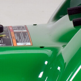 Rasentraktor John Deere X350 Einstellung des Mähwerk