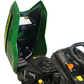 Rasentraktor John Deere X350 Motorhaube ist einfach zu öffnen
