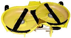 Rasentraktor John Deere X350 Glatte Unterseite bleibt länger sauber