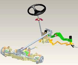 Rasentraktor John Deere X354 Allradlenkung von hinten