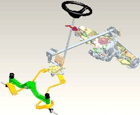 Rasentraktor John Deere X354 Allradlenkung von vorn