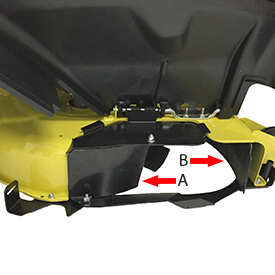 Rasentraktor John Deere X350 Die MulchControl™ Fangklappe