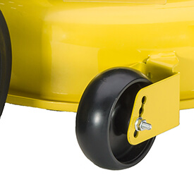 Rasentraktor John Deere X350 Doppelte Halterung der Mähwerkräder