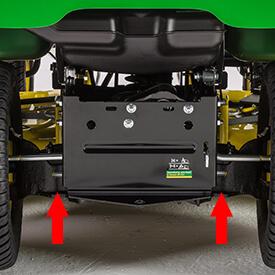 Aufsitzrasenmäher John Deere X 370 Montage-system