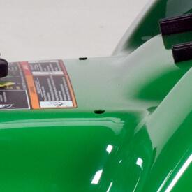Rasentraktor John Deere X380 exakten Einstellung des Mähwerk