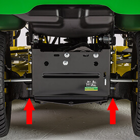 Aufsitzrasenmäher John Deere X584 Hintere Ausrüstung Montage-system
