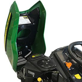 Rasentraktor John Deere X590 einteilige Motorhaube