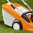 Klappbarer Grasfangkorb mit Füllstandsanzeige